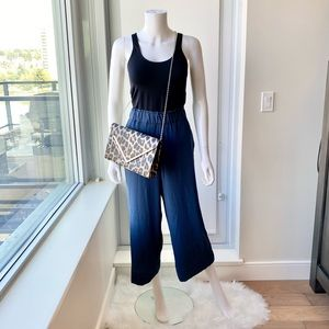 H&M High Waisted Wide Leg Cropped Pants